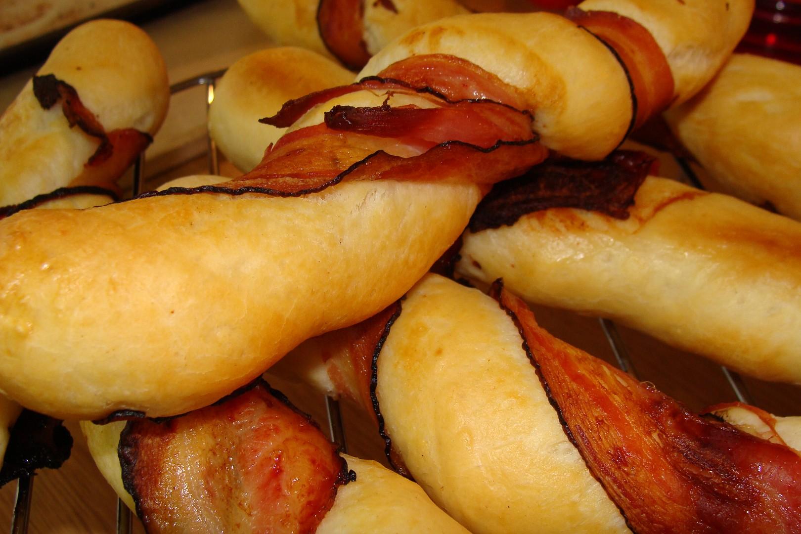 Bagetky s anglickou slaninou