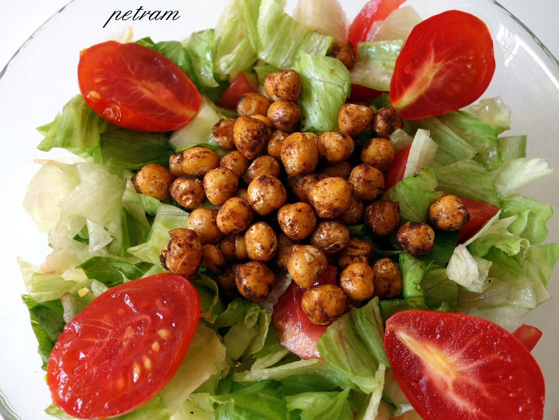 Cizrnové krutony na salát nebo do polévky