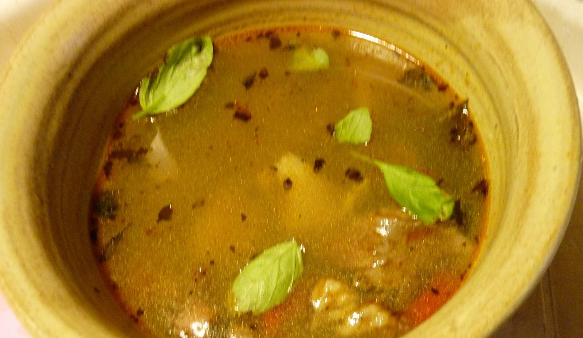 Králíčí polévka s vůní uzeného