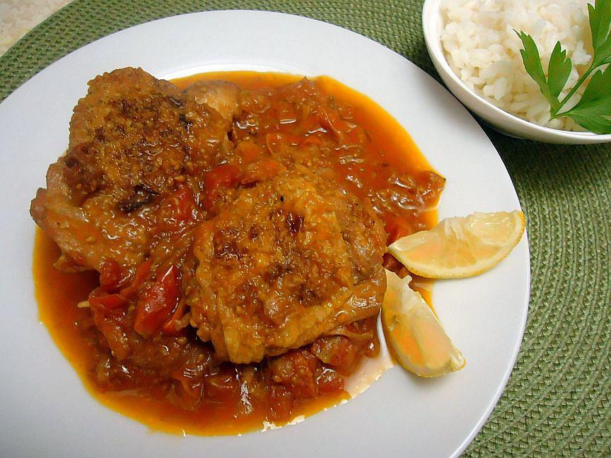 Kuřecí stehna podle receptu z Portugalska