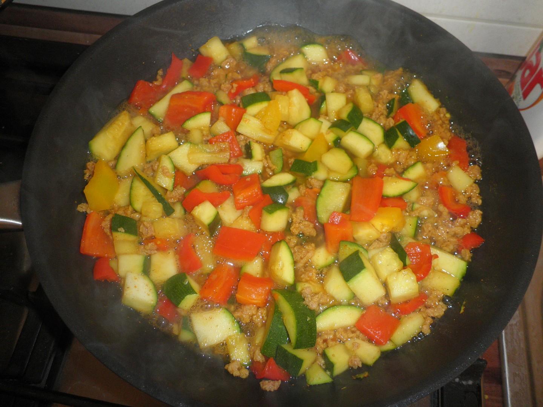 Sójové maso na zelenině+kuskus