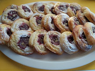 Zamotané tvarohové koláčky Danča