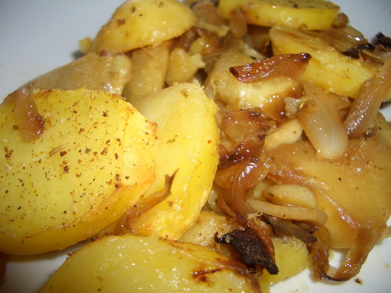Zapečené brambory s patizonem