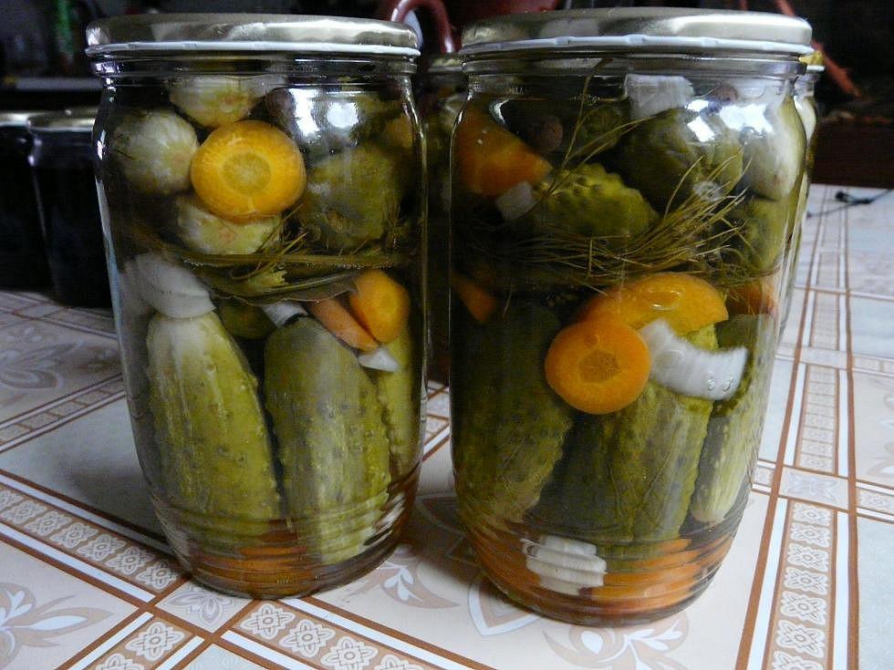 Zavařené okurky bez vaření nálevu